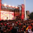 Les champions du monde de basket espagnols ont fêté leur titre sur la place Colomb à Madrid le 16 septembre 2019.
