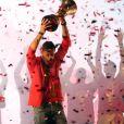 Rudy Fernandez et les champions du monde de basket espagnols ont fêté leur titre sur la place Colomb à Madrid le 16 septembre 2019.