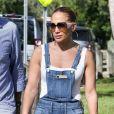 Jennifer Lopez et Marc Anthony se retrouvent pour soutenir leur fille E. Marbiel Muñiz lors d'une course de l'école à Miami, le 18 septembre 2019.