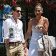 Jennifer Lopez et son ex mari Marc Anthony vont chercher leur fille Emme a l'ecole a Los Angeles, le 19 juin 2013.