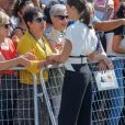 La reine Letizia d'Espagne lançait officiellement l'année scolaire dans une école à Torrejoncillo, près de Caceres, le 17 septembre 2019.