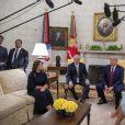 Le président Donald Trump et sa femme Melania Trump reçoivent le Premier ministre d'Australie Scott Morrison et sa femme à la Maison Blanche le 21 septembre 2019.