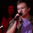 "Mathias - Battles de ""The Voice Kids 2019"" sur TF1. Le 27 septembre 2019."