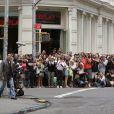 Les fans sur le tournage de la saison 3 de  Gossip Girl , le 9 juillet 2009
