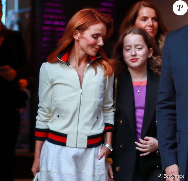Geri Halliwell et sa fille Bluebell Madonna à Paris. Le 27 septembre 2019.