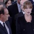 Carla Bruni et François Hollande échangent une messe basse- BFMTV- 30 sept 2019.
