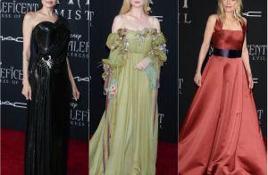 Angelina Jolie, Elle Fanning : robes glamour pour Maléfique : Le Pouvoir du Mal
