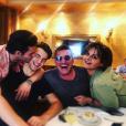 Julien Castaldi, Simon Castaldi et leurs parents Benjamin Castaldi et Valérie Sapienza, le 5 juillet 2019 à Paris.