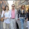 Bill Paxton et sa femme faisant du shopping à Rome le 11 juillet 2009
