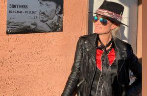 Laeticia Hallyday refait le dernier road trip de Johnny avec leurs amis bikers