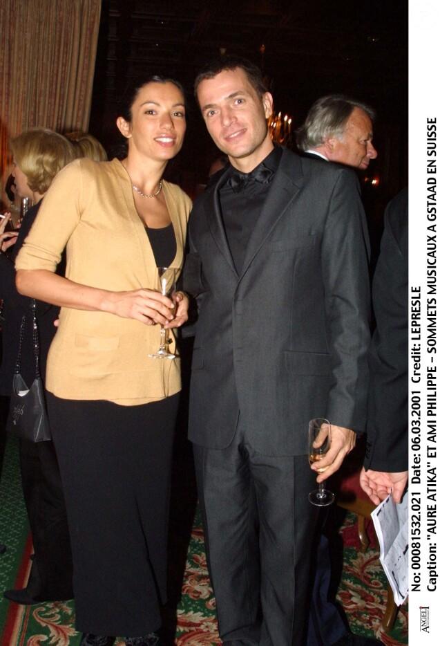 """Aure Atika et Philippe """"Zdar"""" Cerboneschi en Suisse, en 2001."""