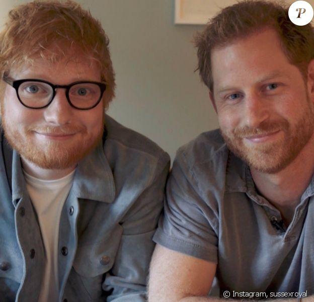 Le prince Harry et le chanteur Ed Sheeran unis pour la Journée mondiale de la santé mentale, le 10 octobre 2019.