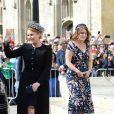 La princesse Eugenie d'York et sa mère Sarah Margaret Ferguson, duchesse d'York - Les invités arrivent au mariage de E. Goulding et C.Jopling en la cathédrale d'York, le 31 août 2019