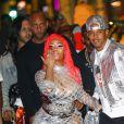Nicki Minaj et son fiancé Kenneth Petty arrivent à la boutique FENDI sur Rodeo Drive pour la soirée de lancement de la collaboration 'Fendi Prints On' à Beverly Hills, le 15 octobre 2019.