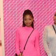 Les chanteuses Chloe et Halle Bailey (du duo Chloe x Halle) assistent à la soirée de lancement de la collaboration 'Fendi Prints On' au magazine FENDI à Beverly Hills, le 15 octobre 2019.