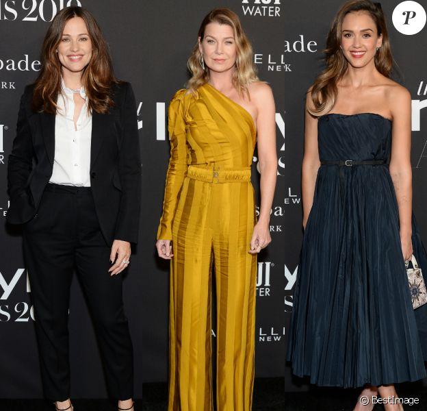 """Jennifer Garner, Ellen Pompeo et Jessica Alba au photocall de la 5ème édition des """"InStyle Awards"""" au Getty Center à Los Angeles, le 21 octobre 2019."""