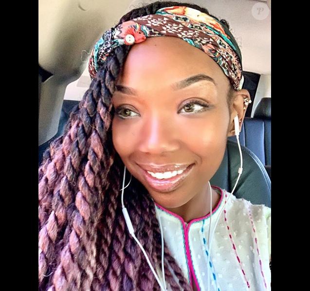 Brandy Norwood sur son compte Instagram. Le 21 avril 2018.