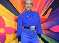 Kylie Minogue : Sublime en bleu royal à Londres, avec Isabelle Huppert
