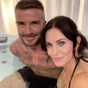 David Beckham : Instant jacuzzi avec Courteney Cox, Jennifer Aniston jalouse