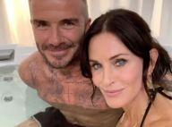 David Beckham : Instant jacuzzi avec Courteney Cox, Jennifer Aniston jalouse