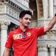 Charles Leclerc - L'écurie de Formule 1 de Ferrari célèbre les 90 ans du célèbre constructeur italien à Monza, le 4 septembre 2019.