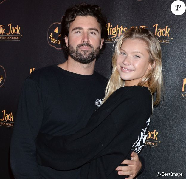 "Brody Jenner et sa compagne Josie Canseco au photocall de ""Nights of the Jack's Friends & Family"" à Los Angeles, le 2 octobre 2019."