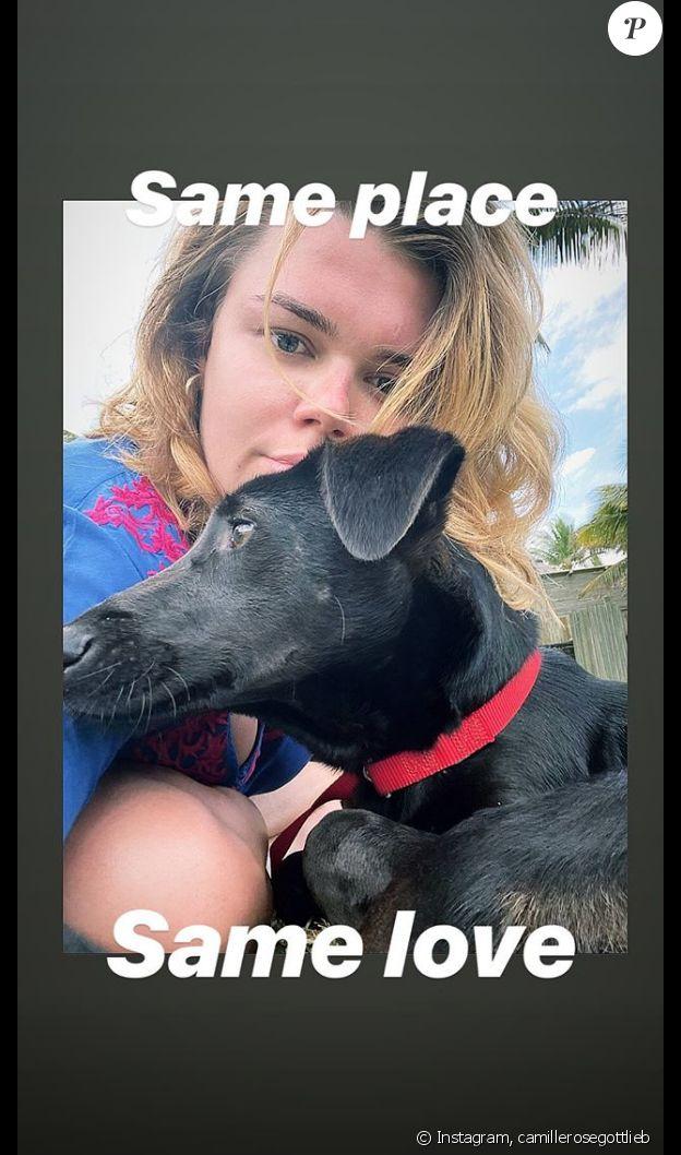 Camille Gottlieb en vacances sur l'île Maurice, le 29 octobre 2019 sur Instagram.