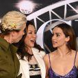 Emma Thompson, Michelle Yeoh et Emilia Clarke assistent à l'avant-première du film 'Last Christmas' à New York, le 29 octobre 2019.