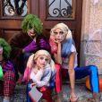Sylvie Tellier avec son mari et ses enfants pour Halloween, le 31 octobre 2019