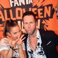 Denitsa Ikonomova et Christian Millette - Showcase de Maître Gims pour la soirée de Halloween de Fanta à Paris le 31 octobre 2019. ©Veeren / Bestimage