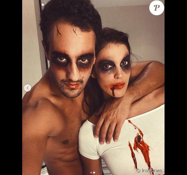 Iris Mittenare et Diego El Glaoui sur Instagram, le 2 novembre 2019.