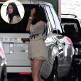 Camila Alves, la compagne de Matthew McConaughey, enceinte de leur deuxième enfant, sur le parking d'un magasin de jouets à los Angeles le 13 juillet 2009