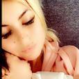 """Carla Moreau et Kevin Guedj des """"Marseillais"""" retrouvent leur fille Ruby, le 1er novembre 2019 - photo Snapchat"""