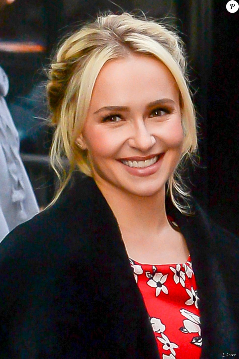 "Hayden Panettiere sort de l'émission ""Good Morning America"". New York. Le 5 janvier 2017."