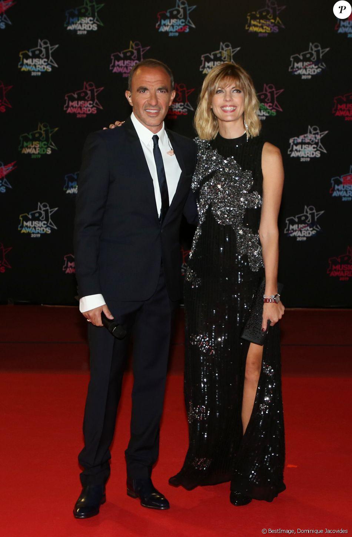 Nikos Aliagas et sa compagne Tina - 21ème édition des NRJ Music Awards au Palais des festivals à Cannes le 9 novembre 2019. © Dominique Jacovides/Bestimage