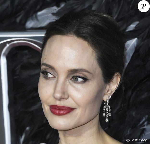 """Angelina Jolie - Les célébrités assistent à la première de """"Maléfique : Le Pouvoir du Mal"""" à Londres, le 9 octobre 2019."""