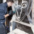 """Exclusif - Illustration lors de la soirée """"La Canadienne X Nobis"""" pour le lancement de la nouvelle collection Nobis dans leur nouvelle boutique au 39 rue du Four à Paris, le 13 novembre 2019. © Pierre Perusseau / Bestimage"""