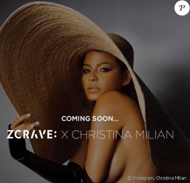 Christina Milian annonce le lancement imminent de sa nouvelle collection de vêtements, en collaboration avec la marque ZCrave. Novembre 2019.