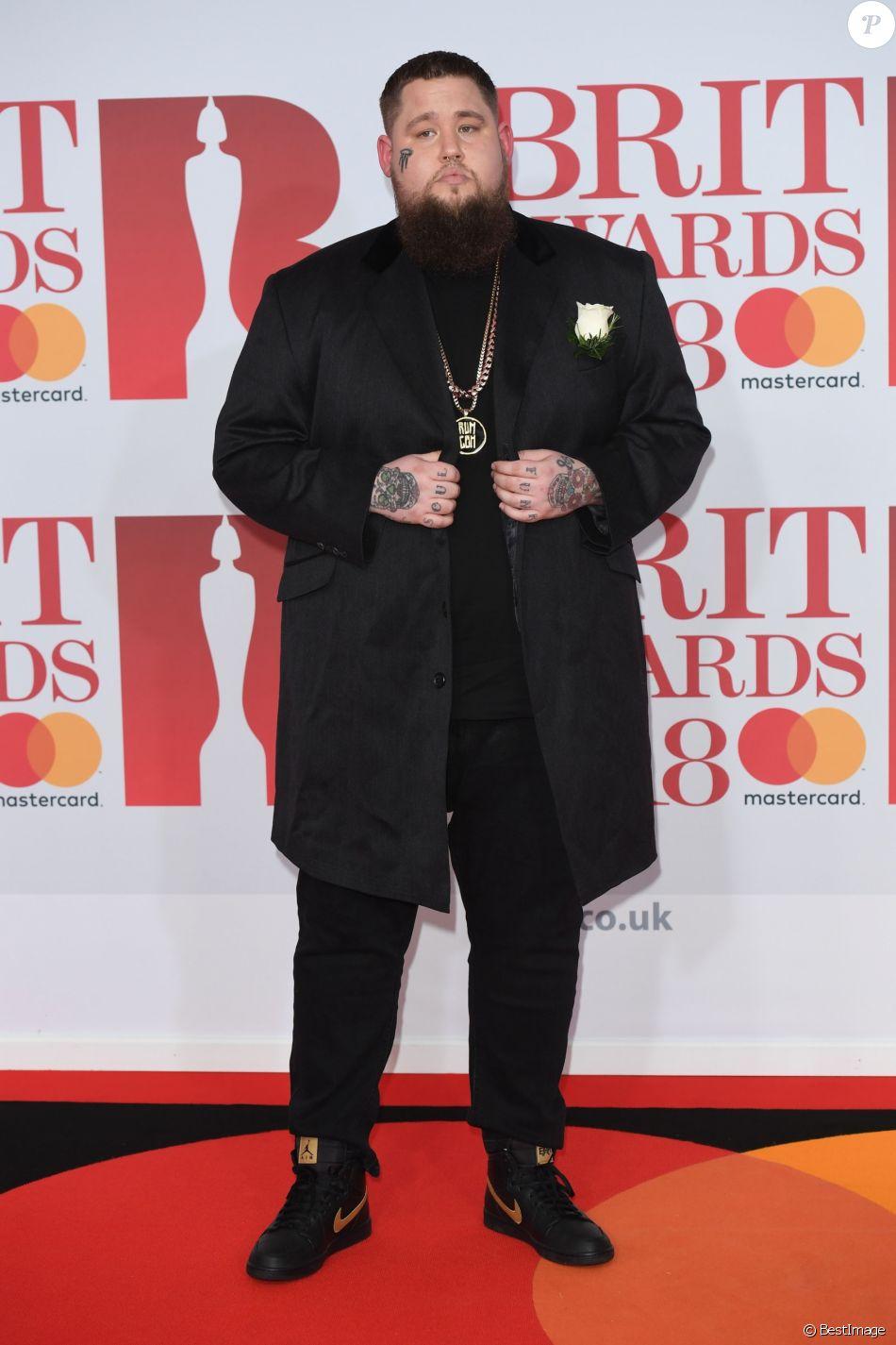 Rag'n'Bone Man lors de la soirée des 38ème Brit Awards à l'O2 Arena à Londres le 21 février 2018.
