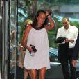 Stéphanie de Monaco arrive à la soirée Fight Aids au Sporting Club Salle des Etoiles le 17 juillet 2009