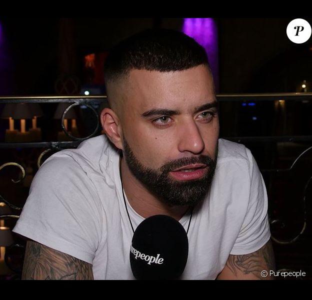 Vincent Queijo en interview pour Purepeople, 14 décembre 2017