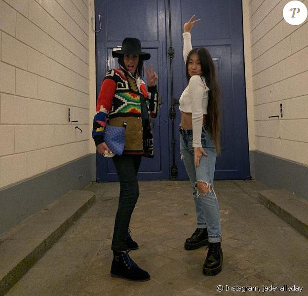 Jade Hallyday a retrouvé sa nounou Maryline Issartier à Paris. Elles ont passé la soirée du 20 novembre 2019 ensemble.
