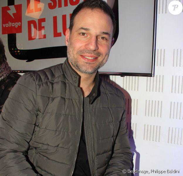 """Mario Barravecchia (Star Academy 1) lors de l'émission """"Le Show de Luxe"""" sur la Radio Voltage à Paris, France, le 12 février 2019. © Philippe Baldini/Bestimage"""