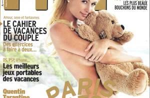 La sexy Paris Hilton topless... sait vendre ses projets comme personne !