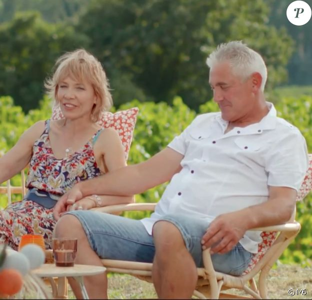 """Jean-Michel et Christine lors du bilan de """"L'amour est dans le pré 2019"""" sur M6. Le 2 décembre 2019."""
