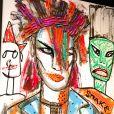 """Exclusif - Illustration lors du vernissage de l'exposition de Boy George """"Scarman and other imperfection"""" à la Galerie GM Design à Monaco le 15 novembre 2019. © Claudia Albuquerque / Bestimage"""