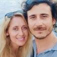 Lara Fabian en vacances en Sicile, avec son mari Gabriel. Le 2 août 2019.