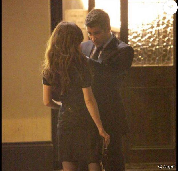 Colin Farrell et la craquante Anna Friel, sur le tournage de London Boulevard, à Londres, en juillet 2009 !