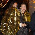 Les top models Gigi Hadid et Mona Tougaard ont participé au défilé Chanel Métiers d'Art et assisté au dîner de l'after-show. Paris, le 4 décembre 2019.