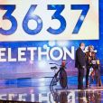 Tom Orhan, Sophie Davant - Lancement de la 33ème édition du Téléthon au Parc de la Villette à Paris le 6 décembre 2019. © Tiziano Da Silva / Bestimage